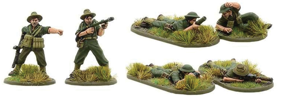 Bolt Action: Australian Flamethrower, Light Mortar And Sniper Teams Box Front