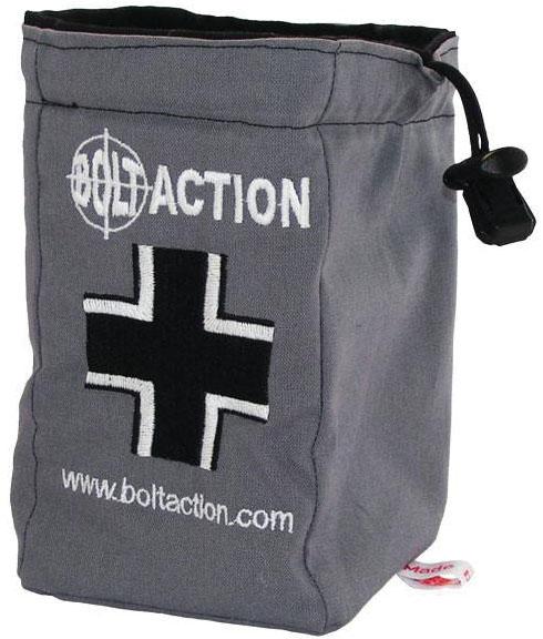 Bolt Action: German Army Dice Bag & Order Dice (grey) Game Box