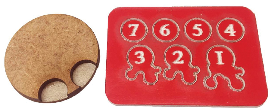 Gangs Of Rome: Jigsaw Base & 7 Flesh Markers Box Front