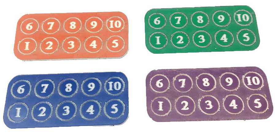 Gangs Of Rome: Gang Fighter Id Markers (40) Box Front