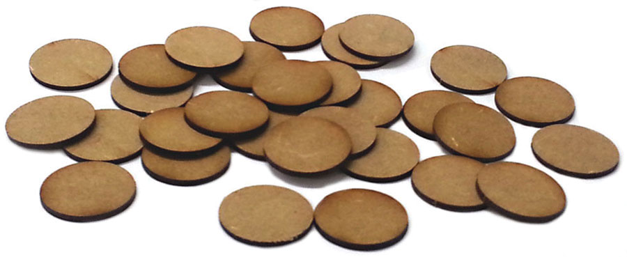 Black Powder: 25mm Round Mdf Bases(30) Box Front