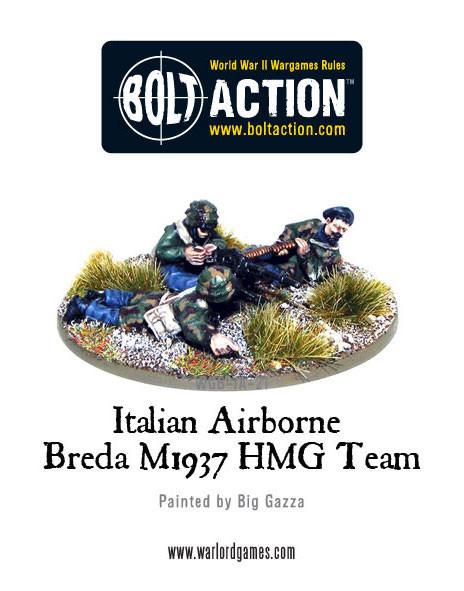 Bolt Action: Italian Airborne - Breda Medium Machine Gun Team Box Front