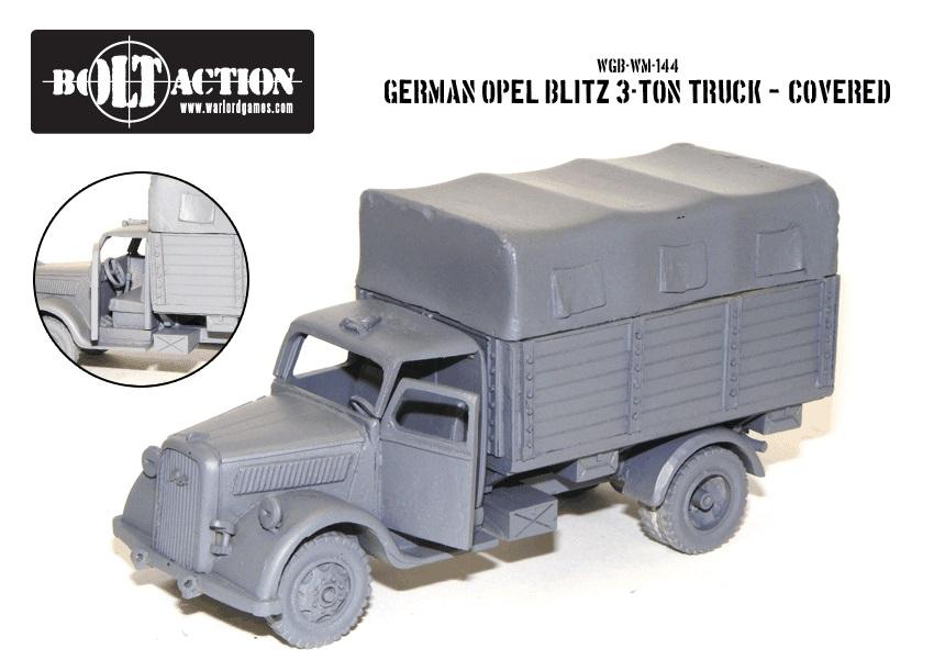 Bolt Action: German Opel Blitz Box Front