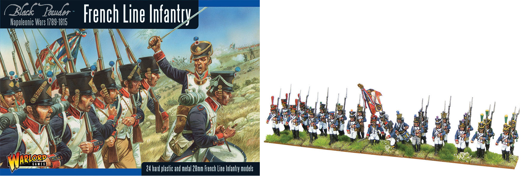 Black Powder: French Line Infantry(24) - Revised Box Box Front