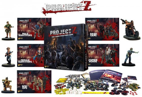 Project Z: The Zombie Miniatures Game Trade Launch Bundle Small Box Front
