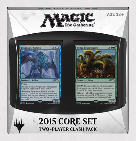 Magic The Gathering Ccg: 2015 Core Set Two-player Clash Pack (5) Box Front