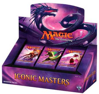 Magic The Gathering Ccg: Iconic Masters Booster Display (24) Box Front