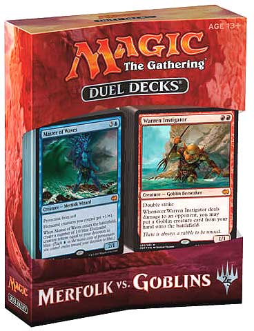 Magic The Gathering Ccg: Duel Decks Merfolk Vs Goblins (6) Box Front
