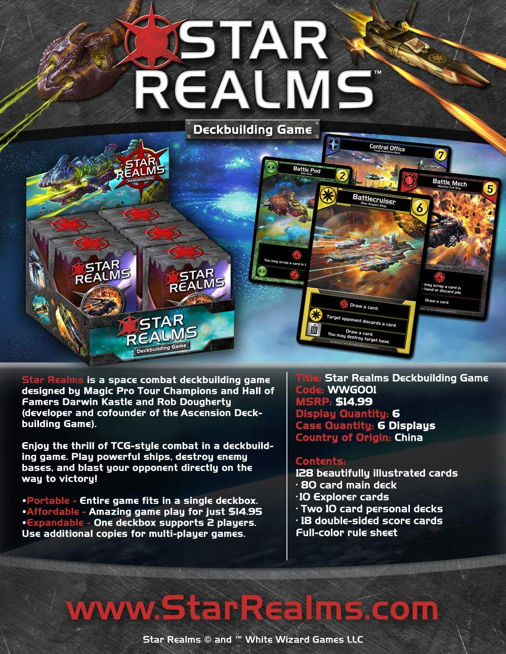 Star Realms Deck Building Game Display (6) Box Front
