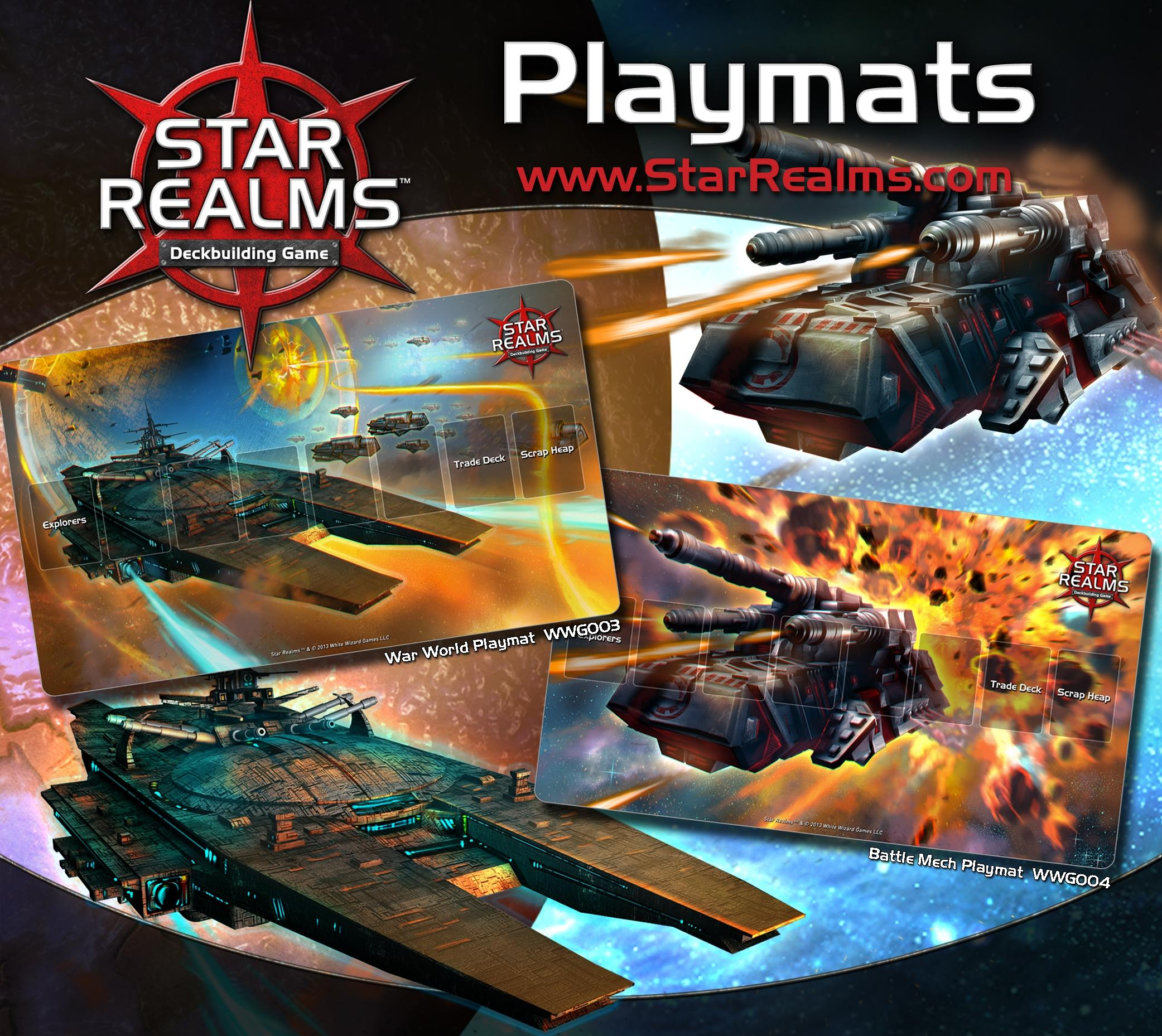 Star Realms Deck Building Game: War World Playmat Box Front