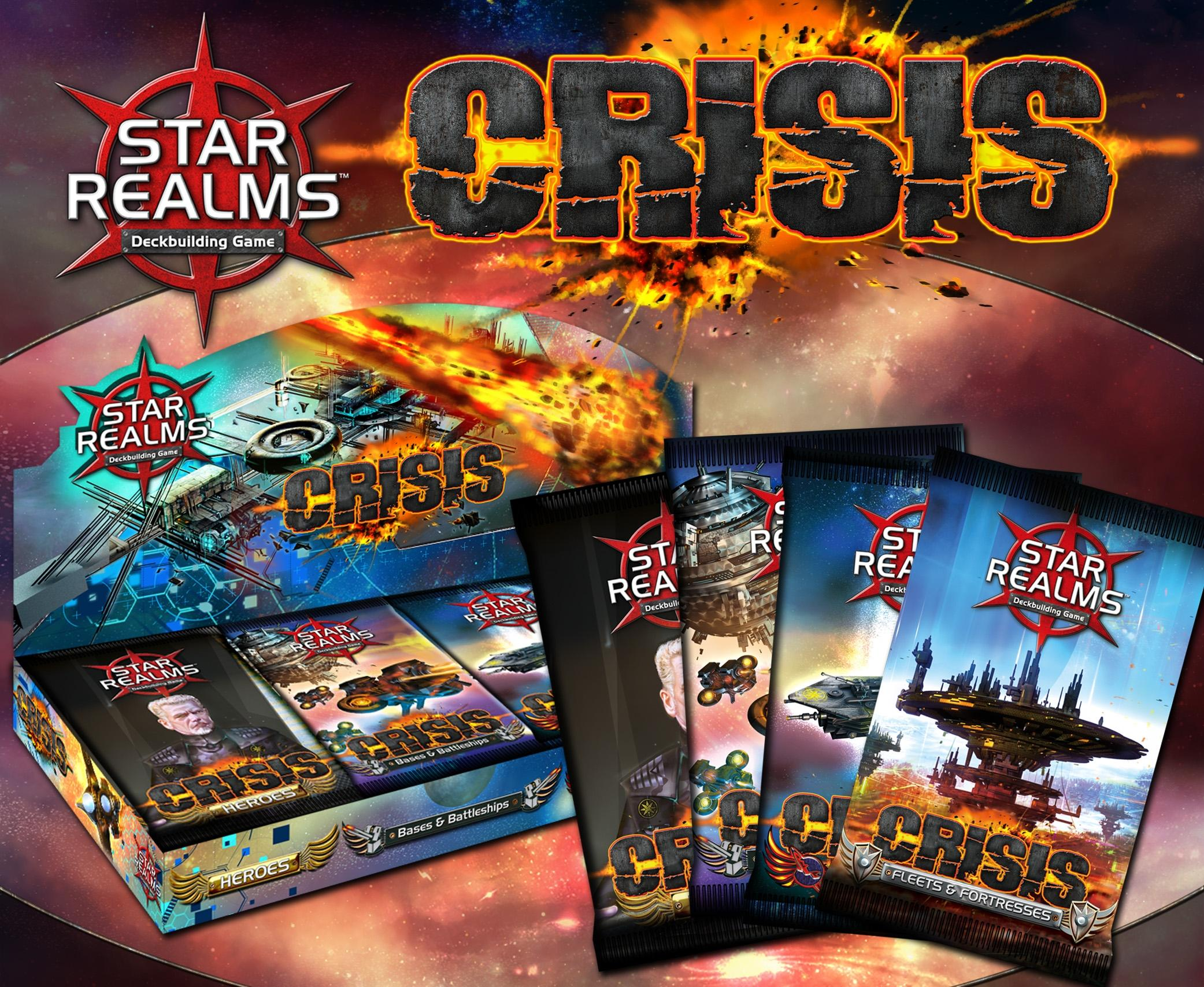 Star Realms Deck Building Game: Crisis Expansion Display (24) Box Front