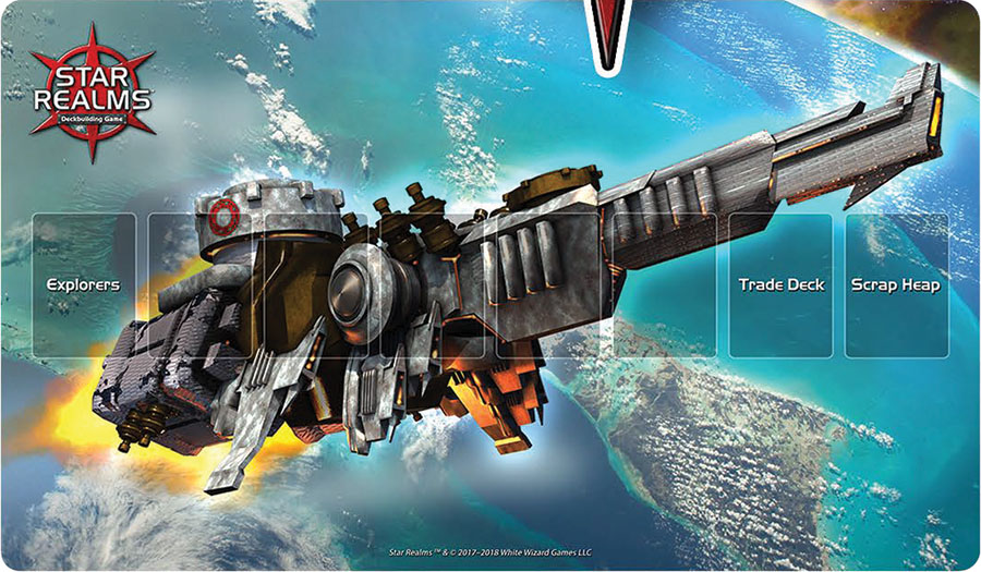 Star Realms Frontiers Playmat Destroyer Mech Box Front