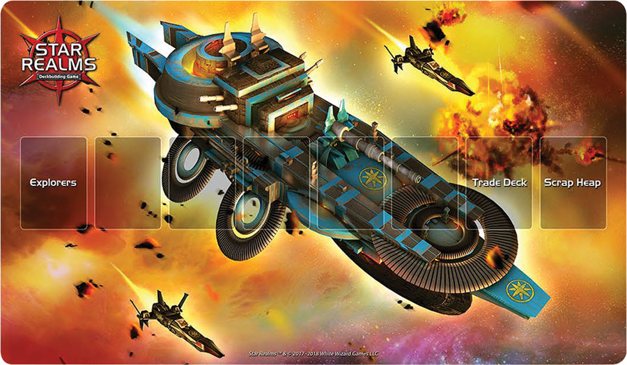 Star Realms Frontiers Playmat Light Cruiser Box Front