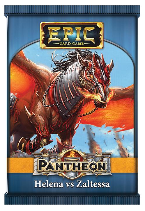 Epic Pantheon: Edler Gods - Helena Vs Zaltessa Display (12) Box Front