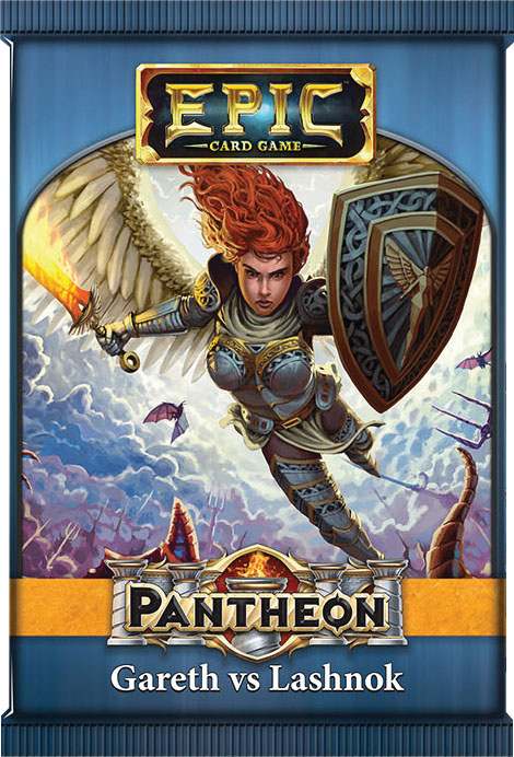 Epic Pantheon Gods: Gareth Vs Lashnok Display (12) Box Front