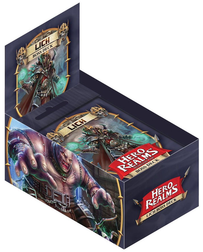 Hero Realms: Lich Boss Deck (display 6) Box Front