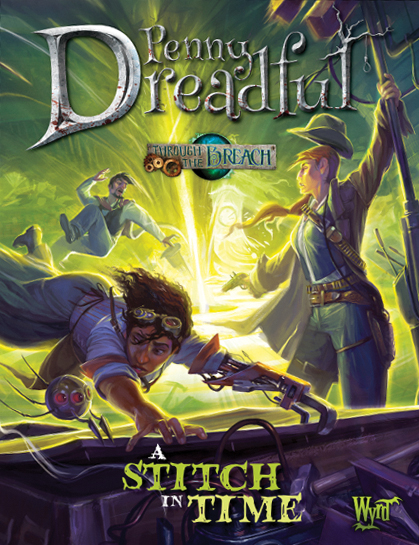 Through The Breach Rpg: Penny Dreadful - A Stitch In Time Box Front