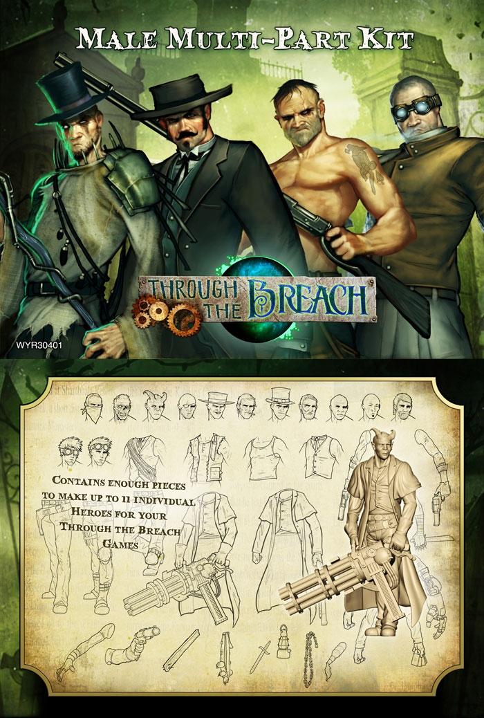 Through The Breach Rpg: Male Multi-part Kit Box Front