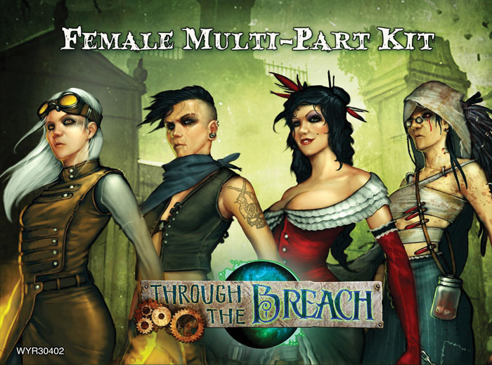 Through The Breach Rpg: Female Multi-part Kit Box Front