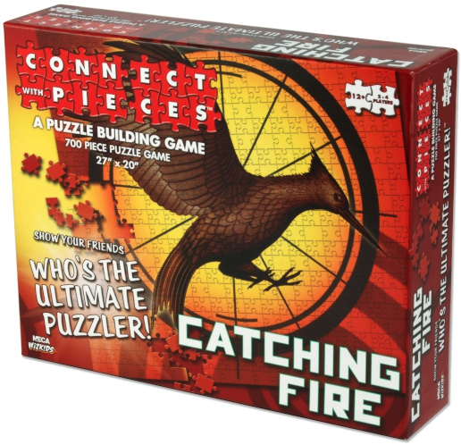 The Hunger Games: Catching Fire Book Cover Connect With Pieces Puzzle Building Game Box Front