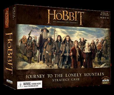 The Hobbit: Journey To The Lonely Mountain Strategy Game Box Front