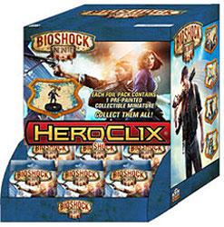 Bioshock Infinite Heroclix: Gravity Feed Display (24) Box Front