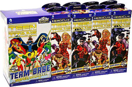 Dc Heroclix: Teen Titans 9 Count Booster Brick (9) Box Front