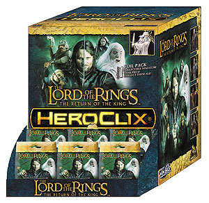The Lord Of The Rings Heroclix: The Return Of The King Gravity Feed Display (24) Box Front