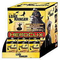 The Lone Ranger Heroclix: Gravity Feed 24 Count Display Box Front