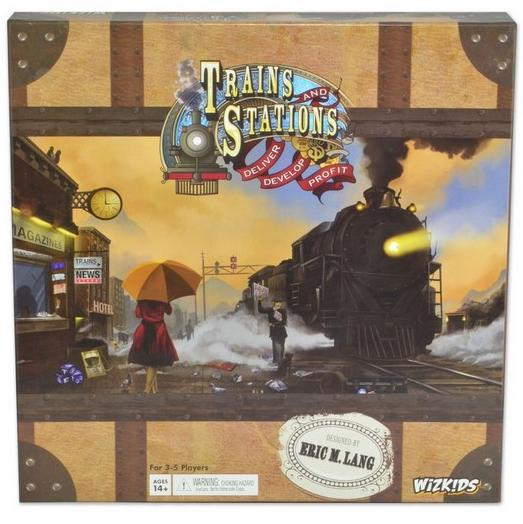 Trains And Stations Strategy Game Box Front