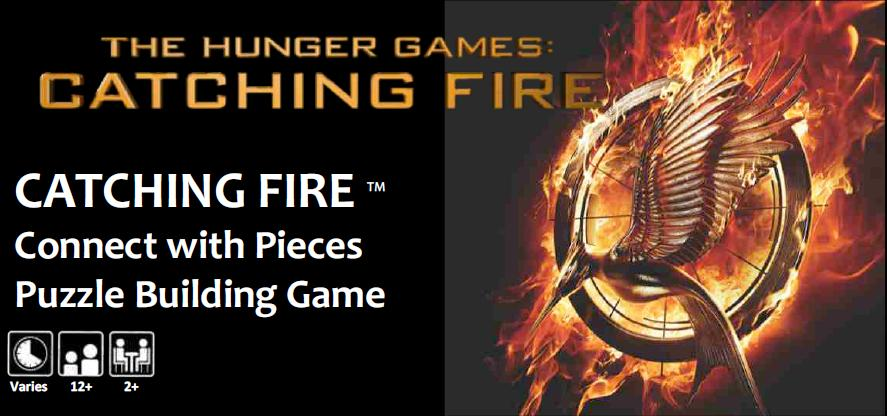 The Hunger Games: Catching Fire Movie Connect With Pieces Puzzle Building Game Box Front
