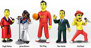 The Simpsons 25th Anniversary 2-inch Mini Figures: Series 1 Gravity Feed Display (24) Box Front