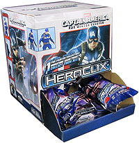 Marvel Heroclix: Captain America The Winter Soldier Gravity Feed Display (24) Box Front