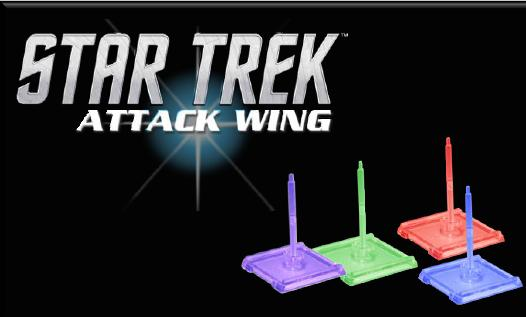 Star Trek Attack Wing: Federation (blue) Faction Base/pegs Set Box Front