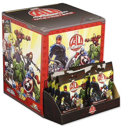 Marvel Dice Masters: Avengers Age Of Ultron Gravity Feed Display (90) Box Front
