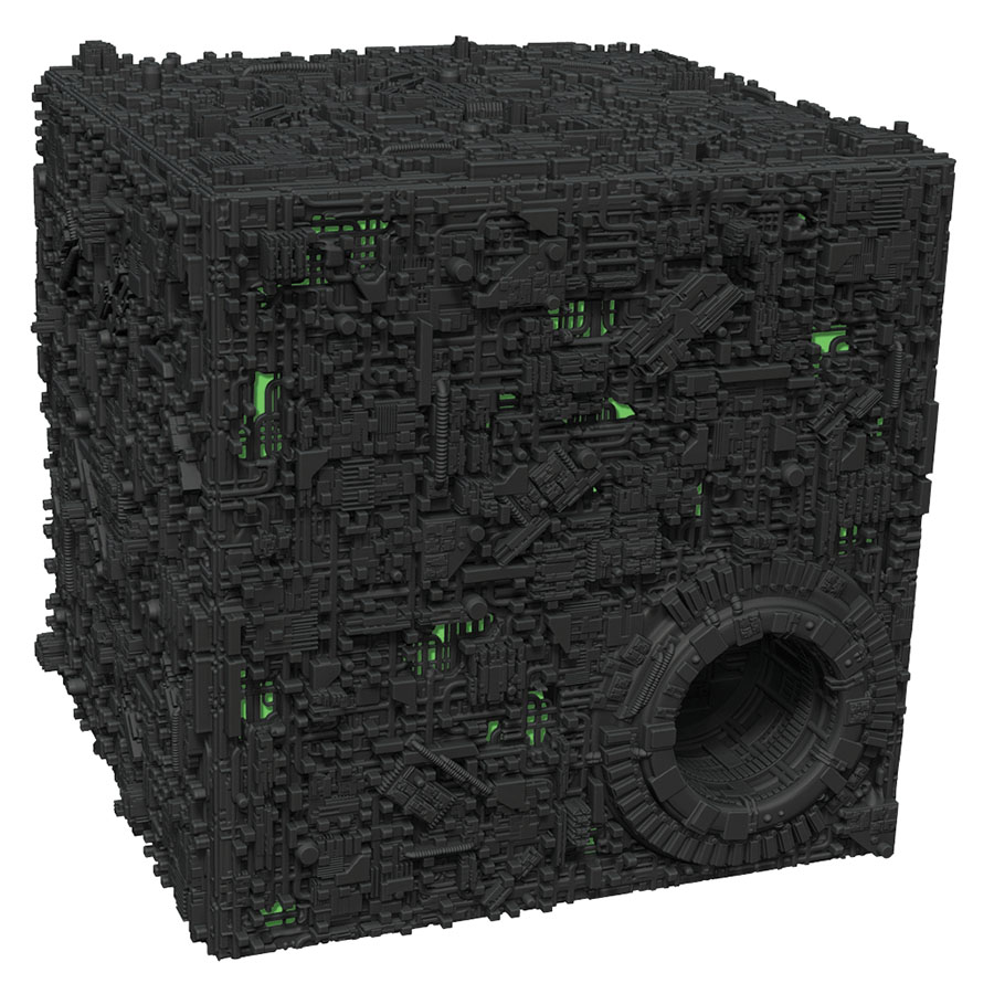 Star Trek Attack Wing: Borg Cube With Sphere Port Premium Figure Box Front