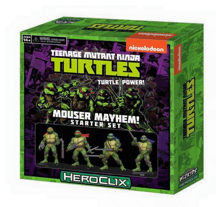 Teenage Mutant Ninja Turtles Heroclix: Mouser Mayhem Starter Set Box Front