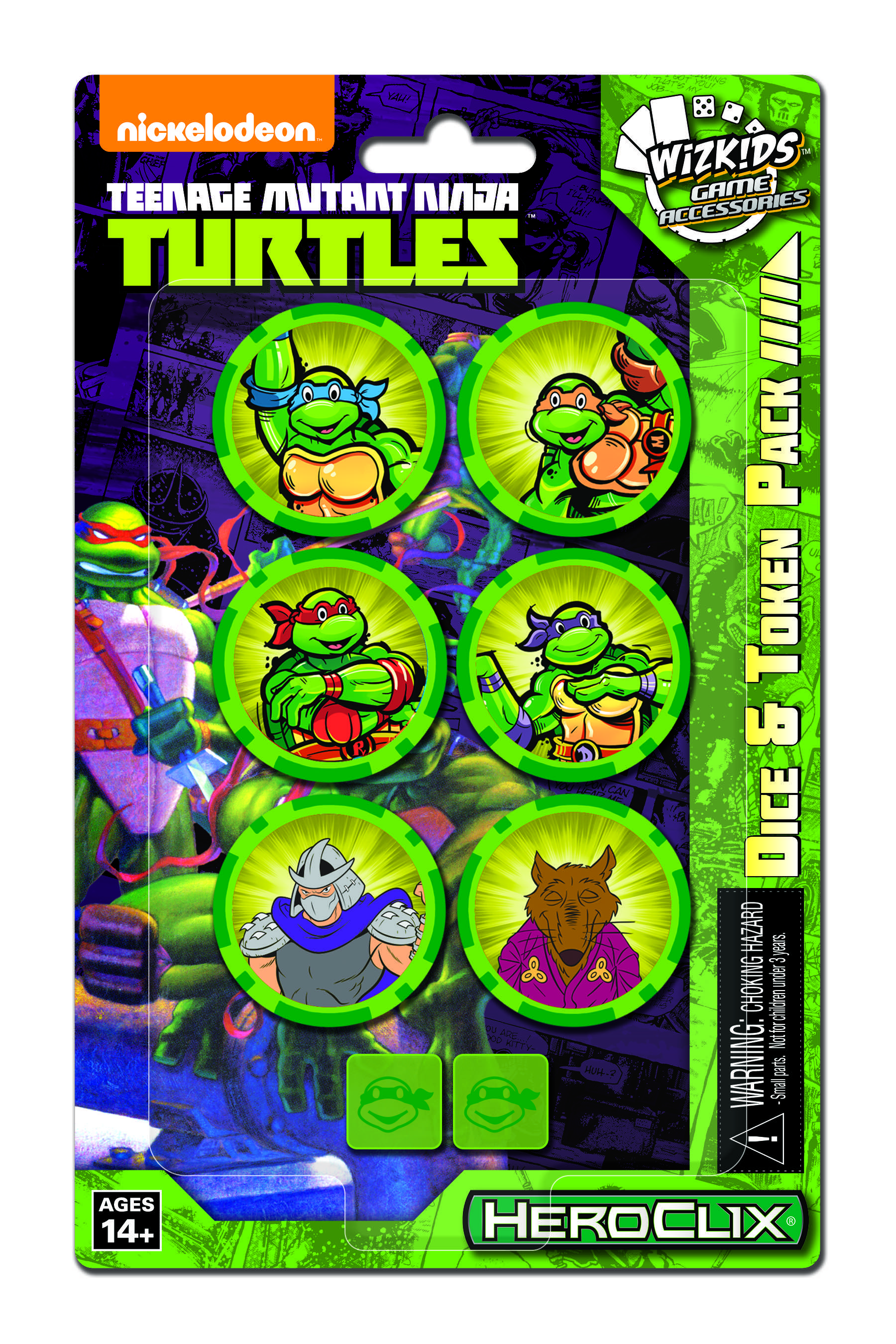 Teenage Mutant Ninja Turtles Heroclix: Dice & Token Pack Box Front