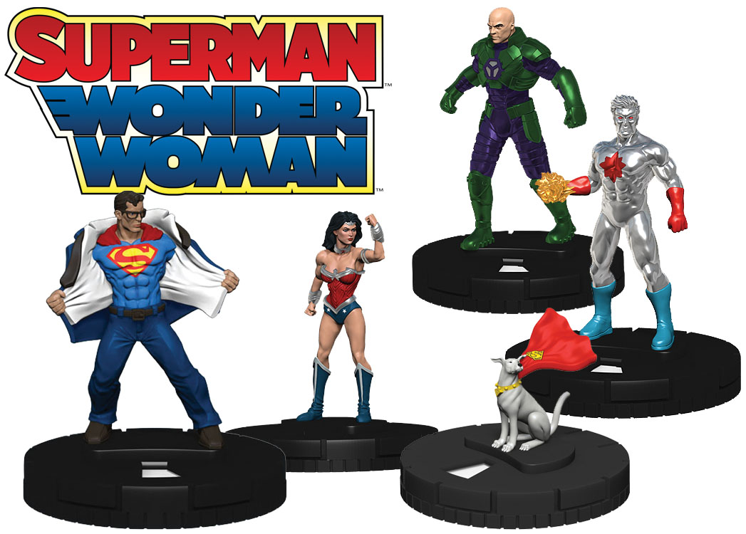 Dc Heroclix: Superman And Wonder Woman Earth 2: Wonders Of The World Fast Forces Box Front