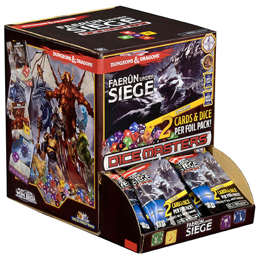 Dungeons & Dragons Dice Masters: Faerun Under Siege Gravity Feed Display (90) Box Front