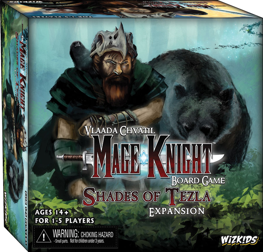 Mage Knight Board Game: Shades Of Tezla Expansion Set Box Front