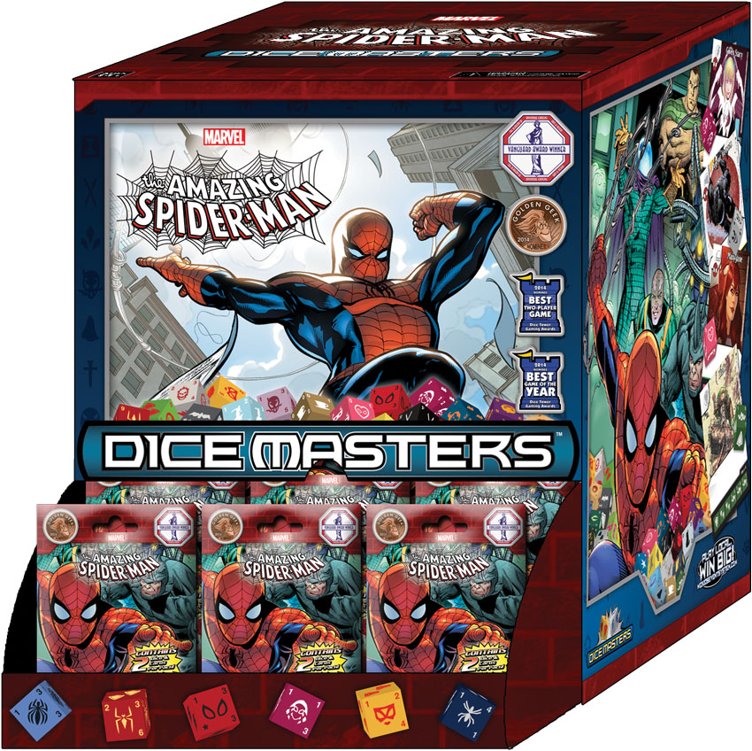 Marvel Dice Masters: The Amazing Spider-man Gravity Feed Display (90) Box Front