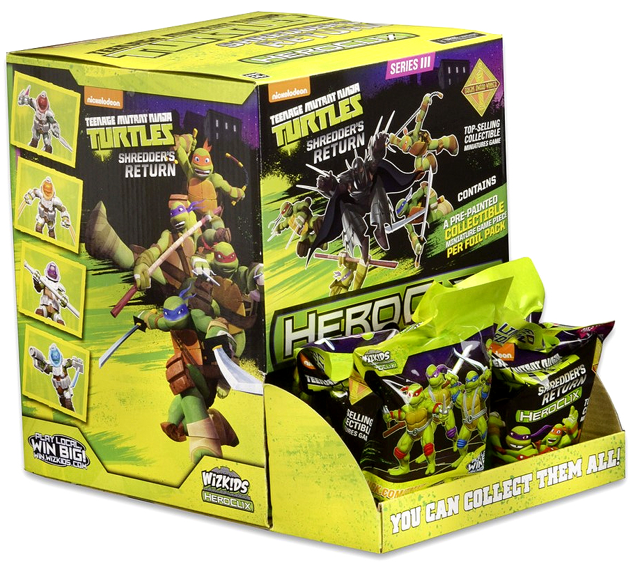 Teenage Mutant Ninja Turtles Heroclix: Shredder`s Return Gravity Feed Display (24) Box Front