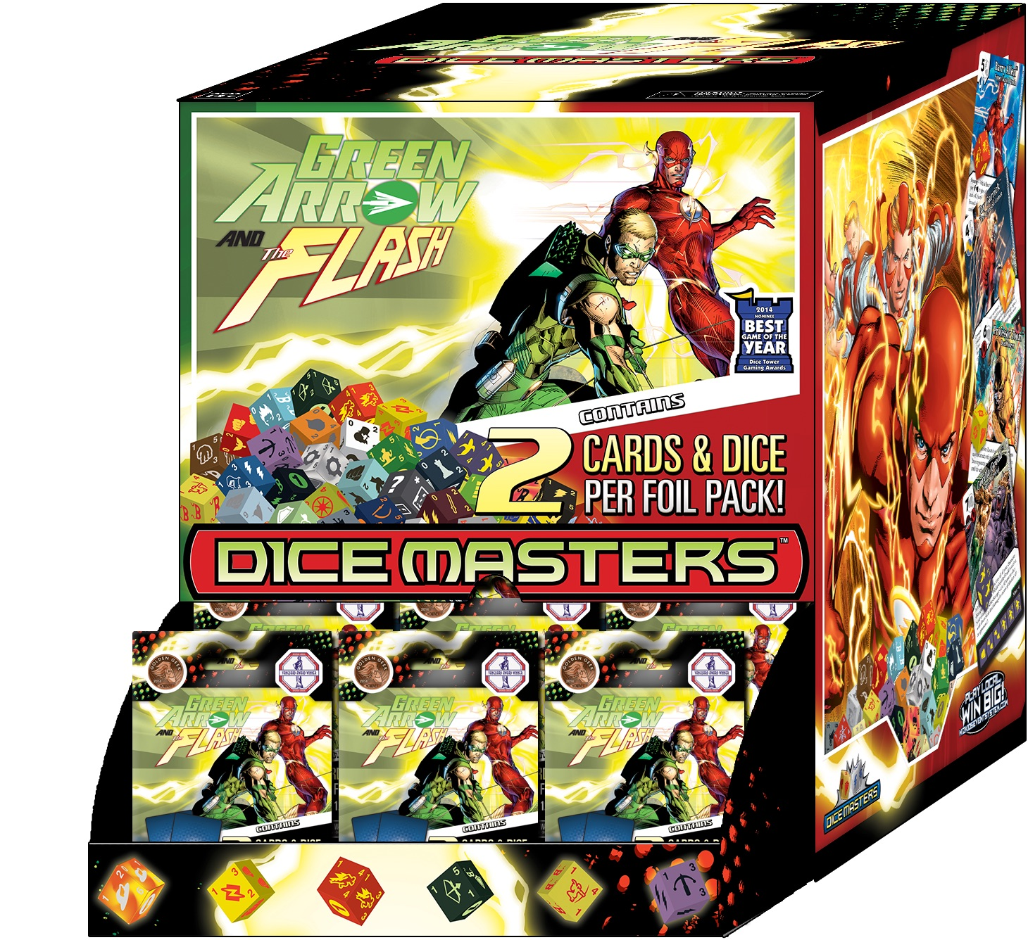Dc Dice Masters: Green Arrow And The Flash Gravity Feed Box Front