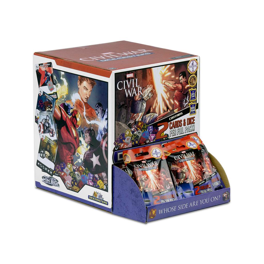 Marvel Dice Masters: Civil War Gravity Feed Display (90) Box Front