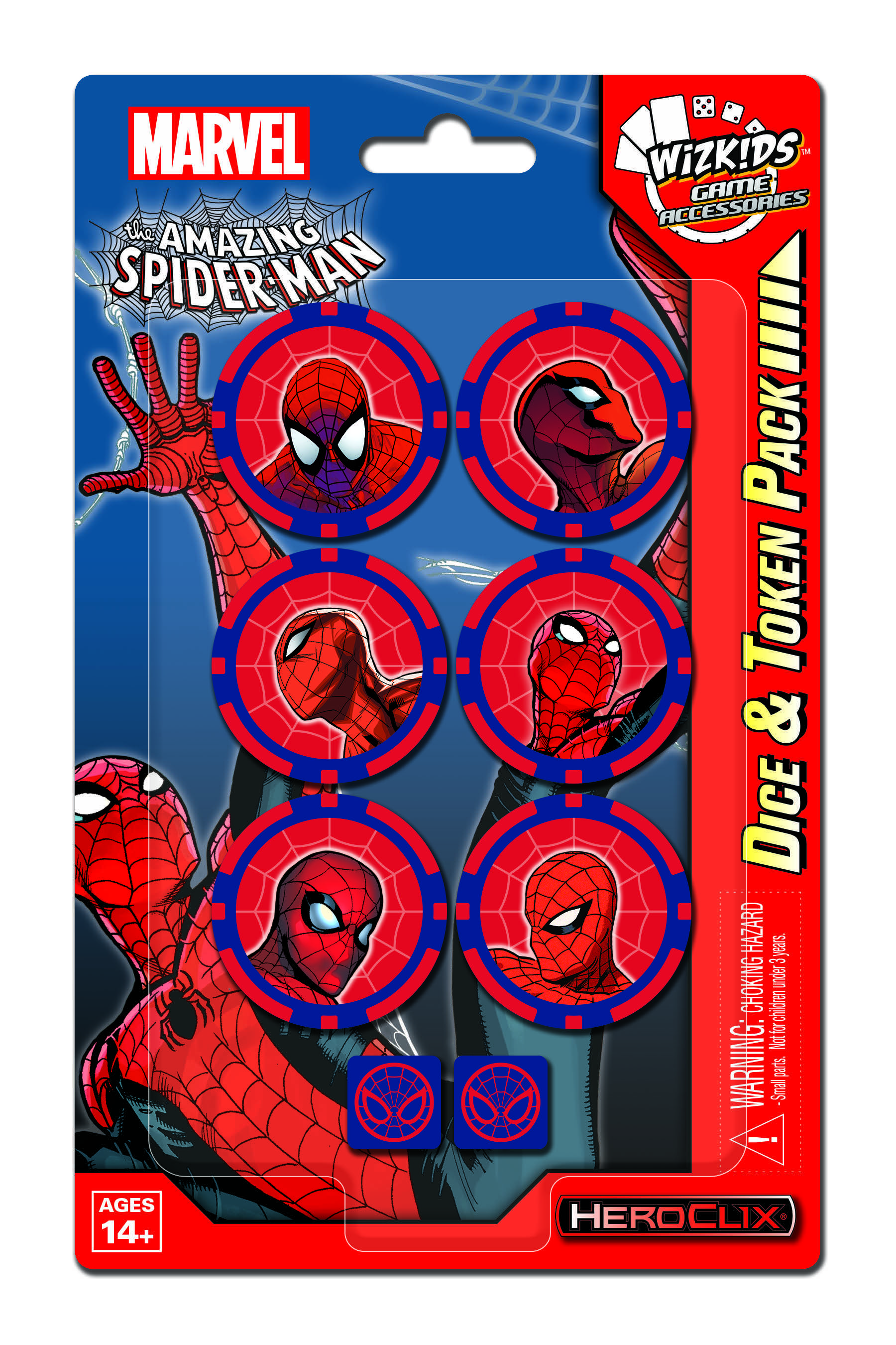 Marvel Heroclix: Spider Man Dice And Token Pack Box Front