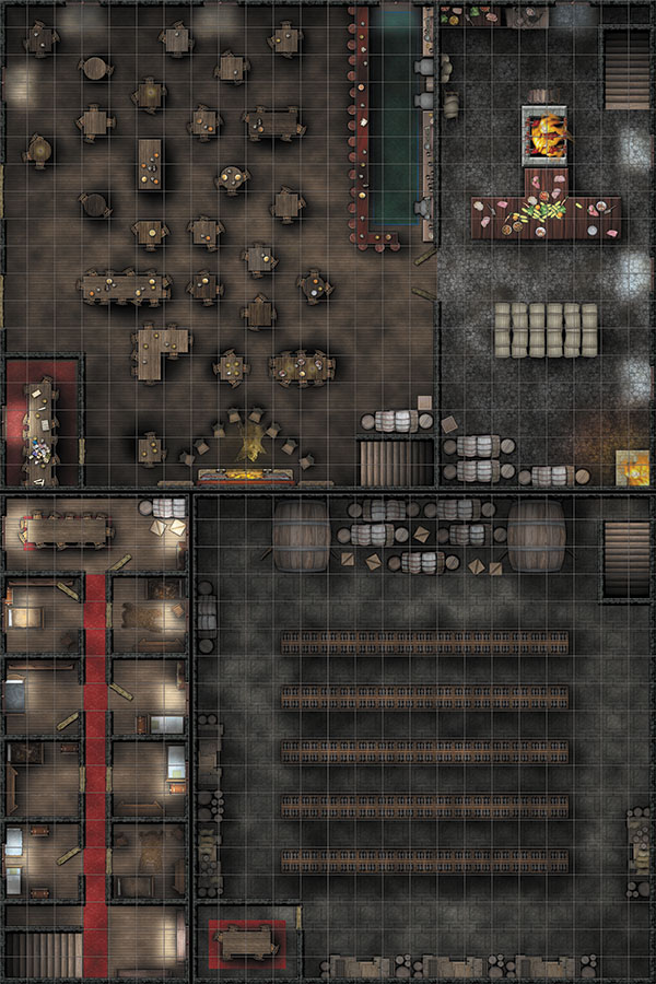 Wizkids Locations: Rpg Premium Map - Tavern Box Front