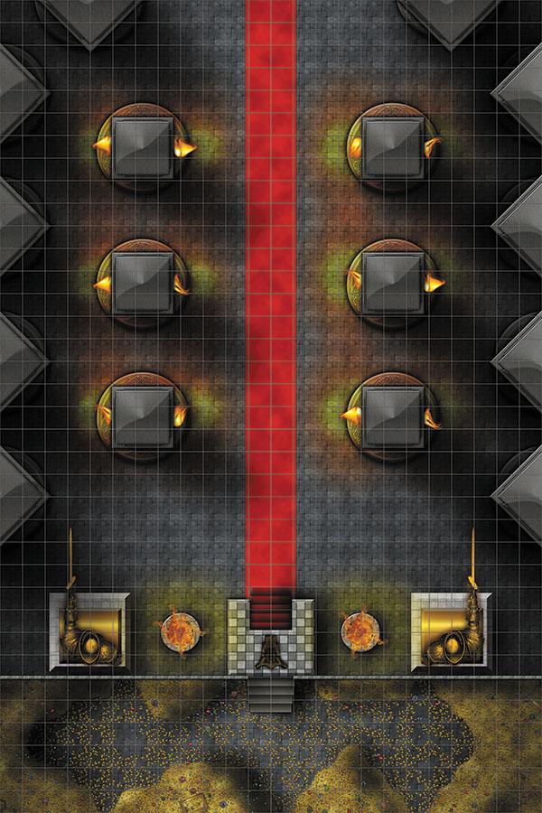 Wizkids Locations: Rpg Premium Map - Throne Room Box Front