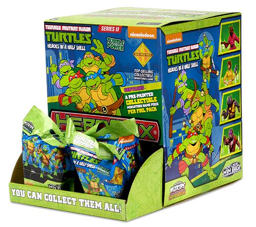Teenage Mutant Ninja Turtles Heroclix: Set 2 Gravity Feed Display (24) Box Front