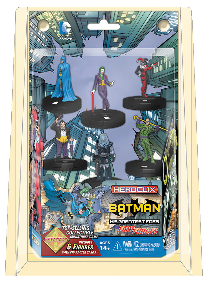 Dc Heroclix: Batman And His Greatest Foes Fast Forces Box Front